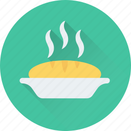 food, hot food, meal, pie, steam icon