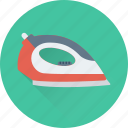 appliance, electric iron, electronics, iron, laundry icon