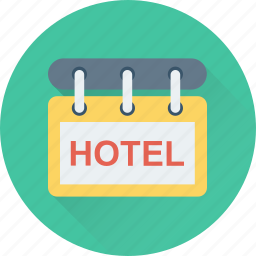 hanging sign, hotel, hotel sign, info, signboard icon
