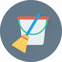 bucket, cleaning, janitor, mop, wiper icon