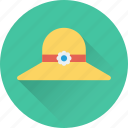beach hat, fashion, floppy hat, holiday, summer hat icon