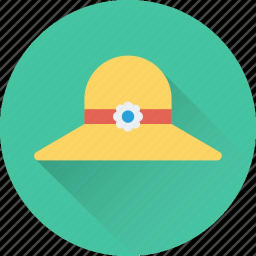beach hat, fashion, floppy hat, holiday, summer hat icon