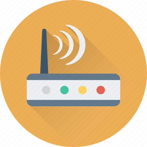 internet, modem, router, wireless, wlan icon