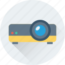 electronics, movie projector, multimedia, projection, projector icon