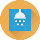 bath, bathing, shower, shower head, sprinkler icon