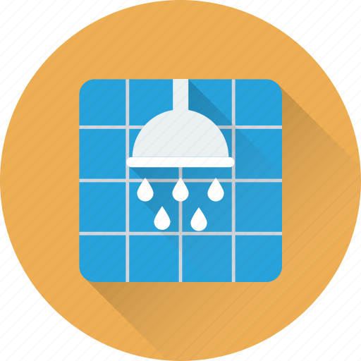 bath, bathing, shower, shower head, sprinkler icon