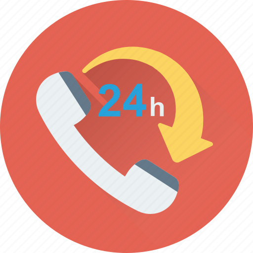 customer service, helpline, hours, services, twenty four icon