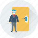 attendant, door, entrance, sargeant, security guard icon