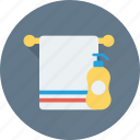 bath, bathroom, shampoo, shower, towel icon