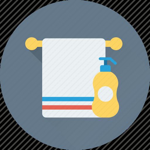bath, bathroom, shampoo, shower, towel icon