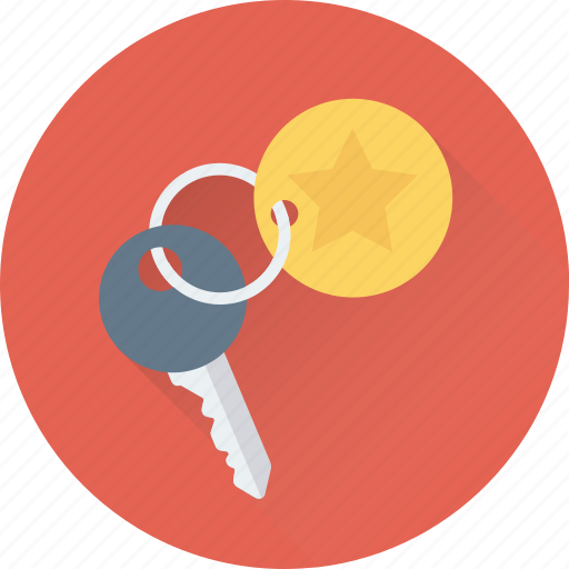 access, hotel, key, keychain, security icon