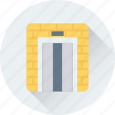 airport, elevator, hotel lift, lift, travel icon