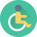 disability, disabled parking, handicap, paralyzed, paraplegic icon