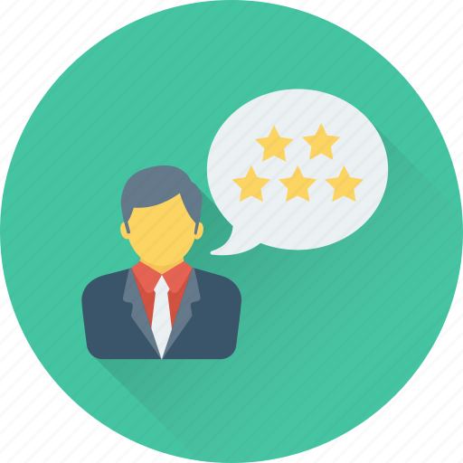 customer satisfaction, feedback, five pointed, review, stars icon