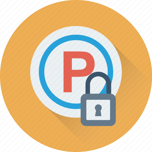 lock, parking, road sign, signboard, traffic icon