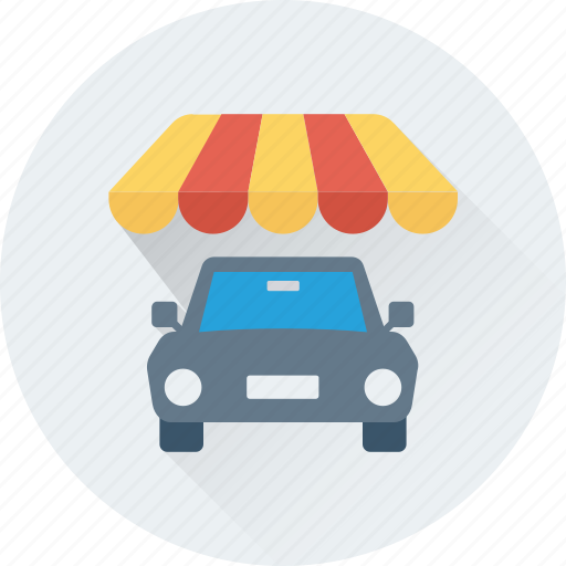 automobile, car, car porch, garage, parking icon