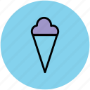 cake cone, cone, cup cone, dessert, frozen food, icecream, sweet icon