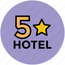five star hotel, hotel, hotel category, hotel ranking, luxury hotel icon