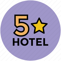 five star hotel, hotel, hotel category, hotel ranking, luxury hotel icon