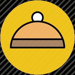 chef platter, covered food, food, food platter, food serving, hotel, serving platter icon
