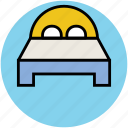 bed, bedroom, double bed, hotel, rest, sleep icon