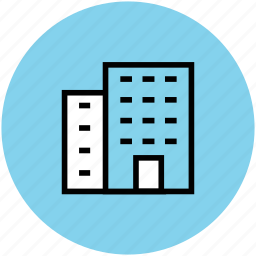 building, commercial building, hotel, office, real estate, residential flats, warehouse icon
