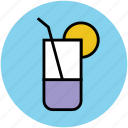 drink, glass, lemonade, soft drink, summer drink icon