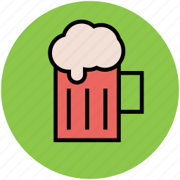 alcohol, alcoholic drink, ale, beer, beer mug, chilled beer, drink icon
