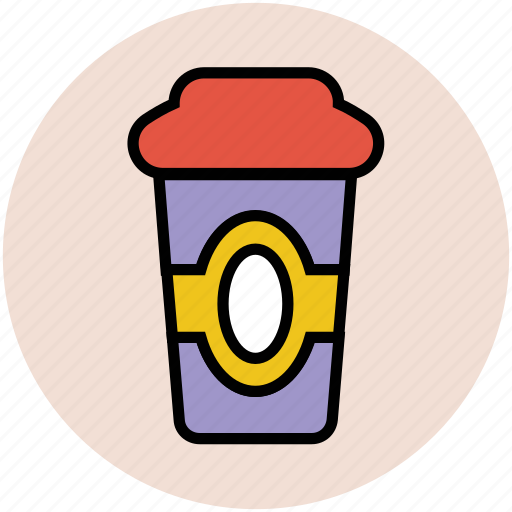 beverage, coffee cup, disposable cup, drink, paper cup, takeaway coffee icon