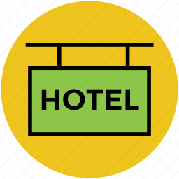 hotel, hotel counter, hotel info, hotel signboard icon