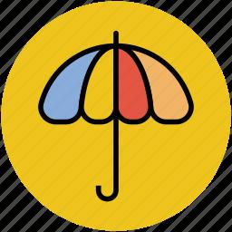 parasol, rain protection, sunshade, umbrella icon