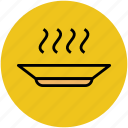 dinner, food, hot food, lunch, meal, plate icon