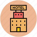 building, holiday, hotel, hotel building, public house, real estate, tourism icon