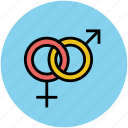 couple, female, gender symbol, male, sex symbol icon