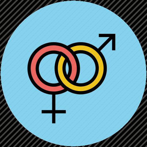 couple, female, gender symbol, male, sex symbol icon