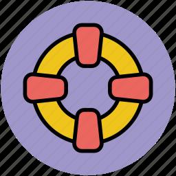 life donut, life preserver, life ring, lifebelt, lifebuoy, lifesaver, ring buoy icon