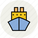 cruise, sea, ship, shipping boat, travel, voyage, water transport icon