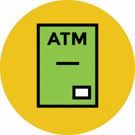 atm, atm machine, automated banking machine, automated teller machine, cash machine, cashline, cashpoint icon
