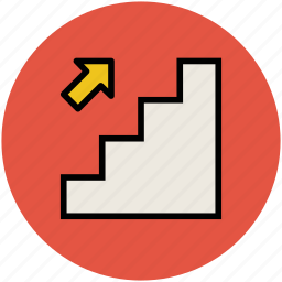 escalator, staircase, stairs, up, upstairs, upward icon