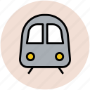 journey, subway, train, tram, transport, travel icon