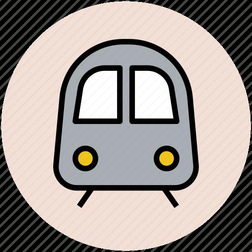 journey, subway, train, tram, transport, travel icon