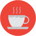 coffee cup, cup and saucer, hot drink, hot tea, tea, tea cup icon