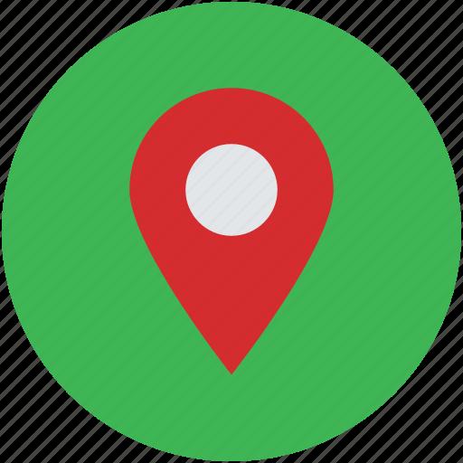 gps, location marker, location pin, map pin, navigation icon