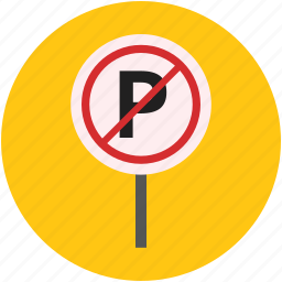 no car parking, no parking, parking forbidden, parking sign, traffic sign icon