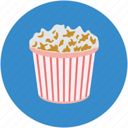 maiz box, popcorn, popcorn box, popping corn, snacks icon