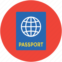 legal document, passport, travel id, travel permit, visa icon