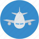 aeroplane, airbus, airliner, airplane, airship, plane icon