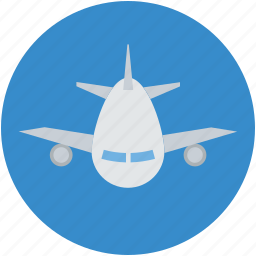 aeroplane, airbus, airliner, airplane, airship, plane icon