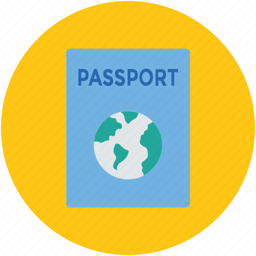 international passport, legal document, passport, travel id, travel permit, visa icon