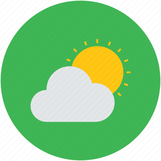 climate, cloud and sun, cloudy day, day, sun, sunlight, sunny day, weather icon